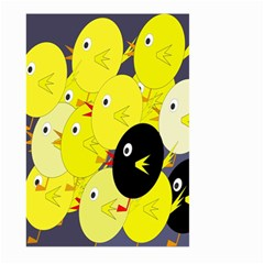 Yellow flock Large Garden Flag (Two Sides)
