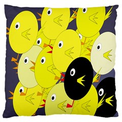 Yellow flock Large Cushion Case (Two Sides)
