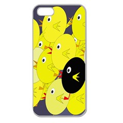 Yellow flock Apple Seamless iPhone 5 Case (Clear)