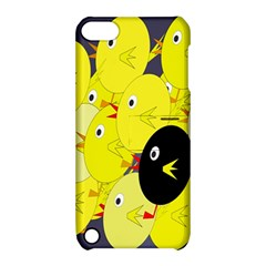 Yellow flock Apple iPod Touch 5 Hardshell Case with Stand
