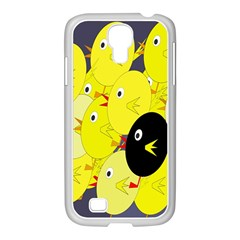 Yellow flock Samsung GALAXY S4 I9500/ I9505 Case (White)