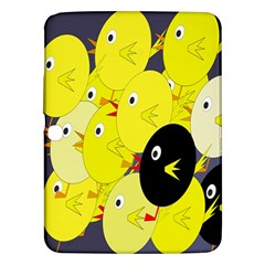 Yellow flock Samsung Galaxy Tab 3 (10.1 ) P5200 Hardshell Case