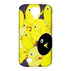 Yellow flock Samsung Galaxy S4 Classic Hardshell Case (PC+Silicone)