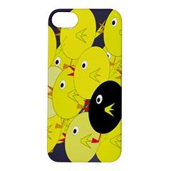 Yellow flock Apple iPhone 5S/ SE Hardshell Case