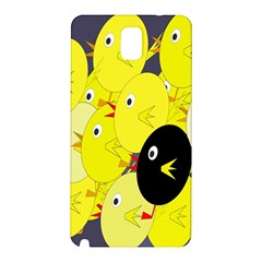 Yellow flock Samsung Galaxy Note 3 N9005 Hardshell Back Case