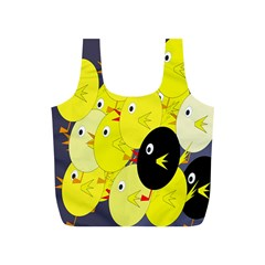 Yellow flock Full Print Recycle Bags (S)