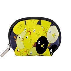 Yellow flock Accessory Pouches (Small)