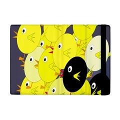 Yellow flock iPad Mini 2 Flip Cases