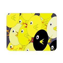 Yellow flock Double Sided Flano Blanket (Mini)