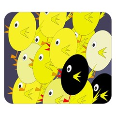 Yellow flock Double Sided Flano Blanket (Small)