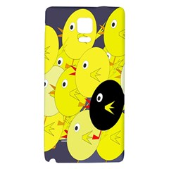 Yellow flock Galaxy Note 4 Back Case
