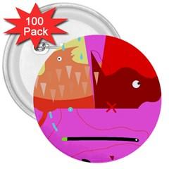 Mythology  3  Buttons (100 pack)