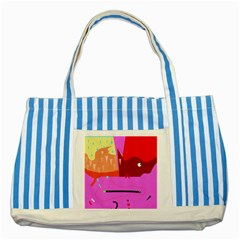 Mythology  Striped Blue Tote Bag