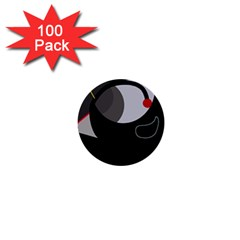 Gray bird 1  Mini Buttons (100 pack)