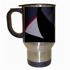 Gray bird Travel Mugs (White)