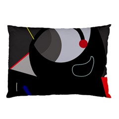 Gray bird Pillow Case