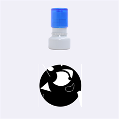 Gray bird Rubber Round Stamps (Small)