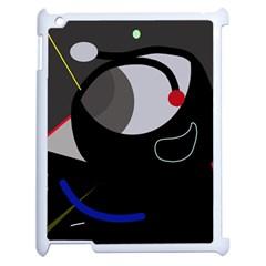 Gray bird Apple iPad 2 Case (White)