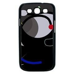 Gray bird Samsung Galaxy S III Case (Black)