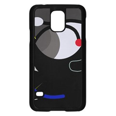 Gray bird Samsung Galaxy S5 Case (Black)