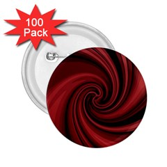 Elegant red twist 2.25  Buttons (100 pack)