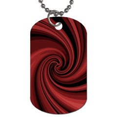 Elegant red twist Dog Tag (Two Sides)