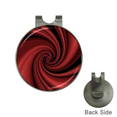 Elegant red twist Hat Clips with Golf Markers