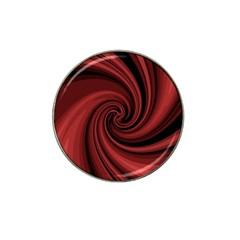 Elegant red twist Hat Clip Ball Marker (4 pack)