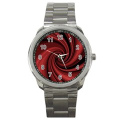 Elegant red twist Sport Metal Watch