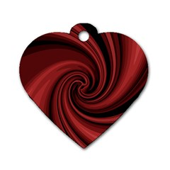 Elegant red twist Dog Tag Heart (Two Sides)