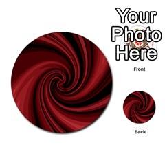Elegant red twist Multi-purpose Cards (Round)