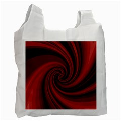 Elegant red twist Recycle Bag (Two Side)