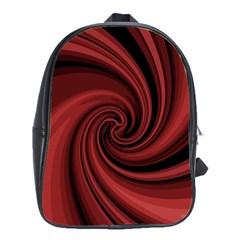 Elegant red twist School Bags(Large)