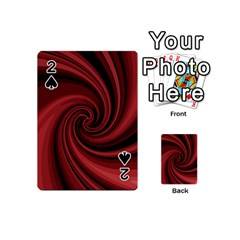Elegant red twist Playing Cards 54 (Mini)