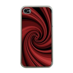 Elegant red twist Apple iPhone 4 Case (Clear)