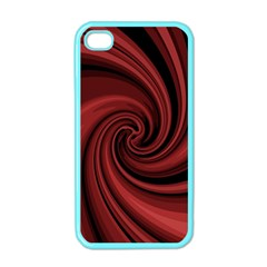 Elegant red twist Apple iPhone 4 Case (Color)