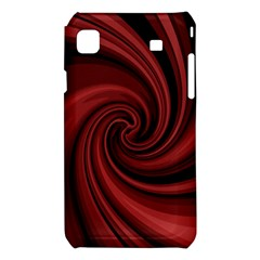 Elegant red twist Samsung Galaxy S i9008 Hardshell Case