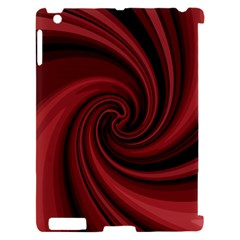 Elegant red twist Apple iPad 2 Hardshell Case (Compatible with Smart Cover)