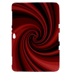 Elegant red twist Samsung Galaxy Tab 8.9  P7300 Hardshell Case