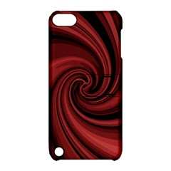 Elegant red twist Apple iPod Touch 5 Hardshell Case with Stand