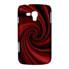 Elegant red twist Samsung Galaxy Duos I8262 Hardshell Case