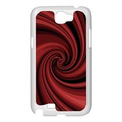 Elegant red twist Samsung Galaxy Note 2 Case (White)