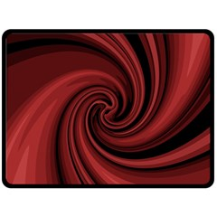 Elegant red twist Double Sided Fleece Blanket (Large)
