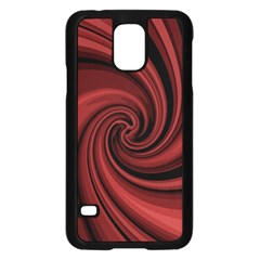 Elegant red twist Samsung Galaxy S5 Case (Black)