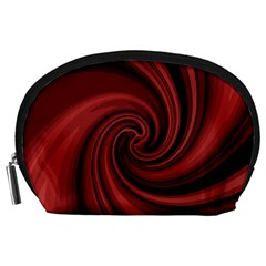 Elegant red twist Accessory Pouches (Large)