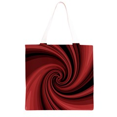 Elegant red twist Grocery Light Tote Bag