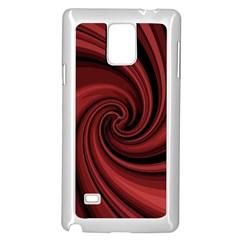 Elegant red twist Samsung Galaxy Note 4 Case (White)