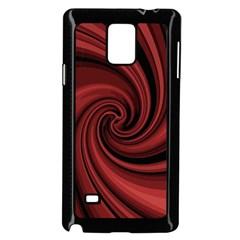 Elegant red twist Samsung Galaxy Note 4 Case (Black)