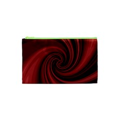 Elegant red twist Cosmetic Bag (XS)