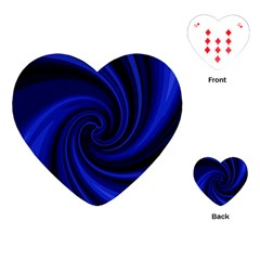 Blue decorative twist Playing Cards (Heart)